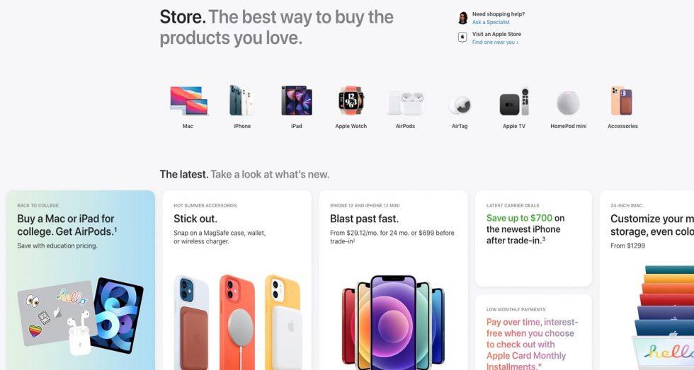 طراحی وبسایت اپل استور آنلاین تغییر کرد